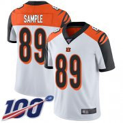 Wholesale Cheap Nike Bengals #89 Drew Sample White Men's Stitched NFL 100th Season Vapor Limited Jersey