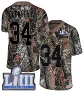 Wholesale Cheap Nike Patriots #34 Rex Burkhead Camo Super Bowl LIII Bound Men's Stitched NFL Limited Rush Realtree Jersey