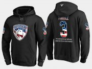 Wholesale Cheap Panthers #3 Keith Yandle NHL Banner Wave Usa Flag Black Hoodie