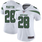 Wholesale Cheap Nike Jets #28 Curtis Martin White Women's Stitched NFL Vapor Untouchable Limited Jersey