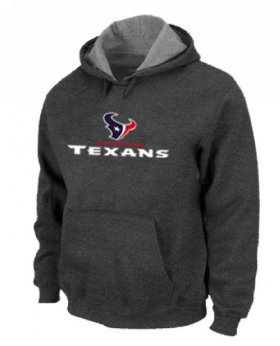Wholesale Cheap Houston Texans Authentic Logo Pullover Hoodie Dark Grey