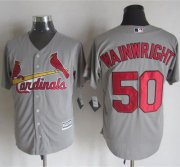 Wholesale Cheap Cardinals #50 Adam Wainwright Grey New Cool Base Stitched MLB Jersey