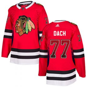 Wholesale Cheap Adidas Blackhawks #77 Kirby Dach Red Home Authentic Drift Fashion Stitched NHL Jersey