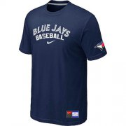 Wholesale Cheap Toronto Blue Jays Nike Short Sleeve Practice MLB T-Shirt Midnight Blue