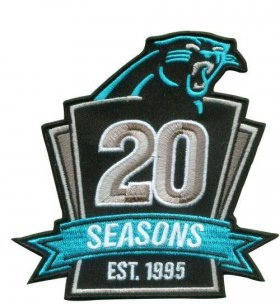 Wholesale Cheap Stitched NFL Carolina Panthers 1995-2014 20TH Season Jersey Patch