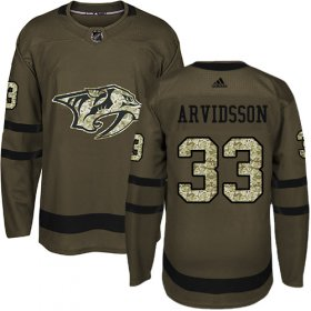 Wholesale Cheap Adidas Predators #33 Viktor Arvidsson Green Salute to Service Stitched Youth NHL Jersey