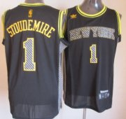 Wholesale Cheap New York Knicks #1 Amare Stoudemire Black Electricity Fashion Jersey