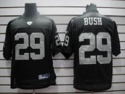 Wholesale Cheap Raiders #29 Micheal Bush Black Stitched NFL Jersey