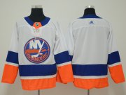 Wholesale Cheap Adidas Islanders Blank White Road Authentic Stitched NHL Jersey