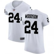 Wholesale Cheap Nike Raiders #24 Charles Woodson White Men's Stitched NFL Vapor Untouchable Elite Jersey