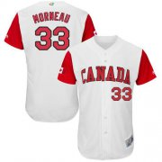 Wholesale Cheap Team Canada #33 Justin Morneau White 2017 World MLB Classic Authentic Stitched MLB Jersey