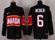 Wholesale Cheap Olympic 2014 CA. #6 Shea Weber Black Stitched NHL Jersey