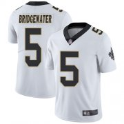 Wholesale Cheap Nike Saints #5 Teddy Bridgewater White Men's Stitched NFL Vapor Untouchable Limited Jersey