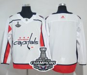Wholesale Cheap Adidas Capitals Blank White Road Authentic Stanley Cup Final Champions Stitched NHL Jersey