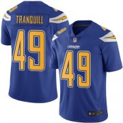 Wholesale Cheap Nike Chargers #49 Drue Tranquill Electric Blue Men's Stitched NFL Limited Rush Jersey