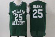 Wholesale Cheap Men's The Movie Bel Air Academy #25 Banks Green Swingman Basketball Jersey