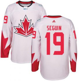 Wholesale Cheap Team CA. #19 Tyler Seguin White 2016 World Cup Stitched NHL Jersey