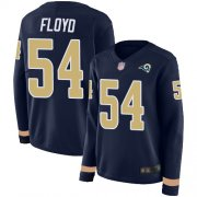 Wholesale Cheap Nike Rams #54 Leonard Floyd Navy Blue Team Color Women's Stitched NFL Limited Therma Long Sleeve Jersey