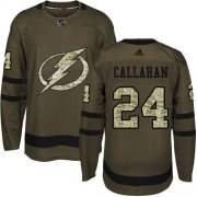 Wholesale Cheap Adidas Lightning #24 Ryan Callahan Green Salute to Service Stitched Youth NHL Jersey