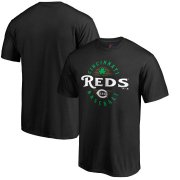 Wholesale Cheap Cincinnati Reds Majestic Forever Lucky T-Shirt Black