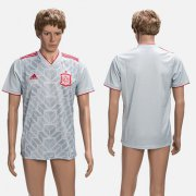 Wholesale Cheap Spain Blank Grey Training Soccer Country Jersey