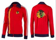 Wholesale Cheap NHL Chicago Blackhawks Zip Jackets Orange-2