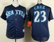 Wholesale Cheap Mariners #23 Nelson Cruz Navy Blue Cool Base Stitched MLB Jersey
