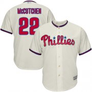 Wholesale Cheap Phillies #22 Andrew McCutchen Cream Cool Base Stitched Youth MLB Jersey
