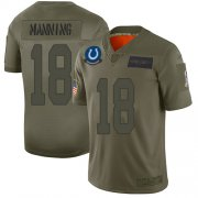Wholesale Cheap Nike Colts #18 Peyton Manning Camo Men's Stitched NFL Limited 2019 Salute To Service Jersey