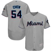 Wholesale Cheap marlins #54 Wei-Yin Chen Grey Flexbase Authentic Collection Stitched MLB Jersey