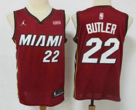 Wholesale Cheap Men\'s Miami Heat #22 Jimmy Butler Red 2020 Brand Jordan Swingman Stitched NBA Jersey With The NEW Sponsor Logo