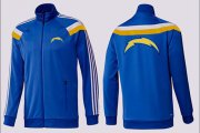 Wholesale Cheap NFL Los Angeles Chargers Team Logo Jacket Blue_2