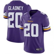 Wholesale Cheap Nike Vikings #20 Jeff Gladney Purple Team Color Men's Stitched NFL Vapor Untouchable Limited Jersey