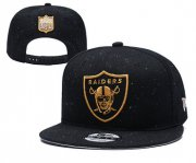 Wholesale Cheap Raiders Team Gold Logo Black Adjustable Hat YD
