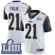 Wholesale Cheap Nike Rams #21 Aqib Talib White Super Bowl LIII Bound Men's Stitched NFL Vapor Untouchable Limited Jersey