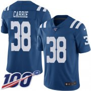 Wholesale Cheap Nike Colts #38 T.J. Carrie Royal Blue Youth Stitched NFL Limited Rush 100th Season Jersey