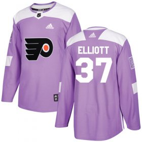 Wholesale Cheap Adidas Flyers #37 Brian Elliott Purple Authentic Fights Cancer Stitched Youth NHL Jersey