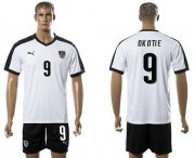 Wholesale Cheap Austria #9 Okotie White Away Soccer Country Jersey
