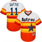 Wholesale Cheap Astros #11 Evan Gattis White/Orange Cooperstown Stitched Youth MLB Jersey