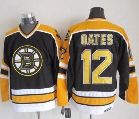 Wholesale Cheap Bruins #12 Adam Oates Black CCM Throwback New Stitched NHL Jersey