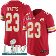 Wholesale Cheap Nike Chiefs #23 Armani Watts Red Super Bowl LIV 2020 Team Color Youth Stitched NFL Vapor Untouchable Limited Jersey