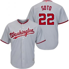 Wholesale Cheap Nationals #22 Juan Soto Grey New Cool Base Stitched MLB Jersey