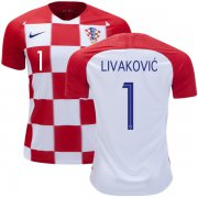 Wholesale Cheap Croatia #1 Livakovic Home Soccer Country Jersey
