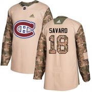 Wholesale Cheap Adidas Canadiens #18 Serge Savard Camo Authentic 2017 Veterans Day Stitched NHL Jersey