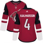 Wholesale Cheap Adidas Coyotes #4 Niklas Hjalmarsson Maroon Home Authentic Women's Stitched NHL Jersey