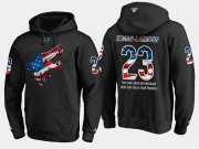 Wholesale Cheap Coyotes #23 Oliver Ekman NHL Banner Wave Usa Flag Black Hoodie