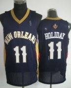 Wholesale Cheap New Orleans Pelicans #11 Jrue Holiday Navy Blue Swingman Jersey