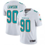 Wholesale Cheap Nike Dolphins #90 Shaq Lawson White Men's Stitched NFL Vapor Untouchable Limited Jersey