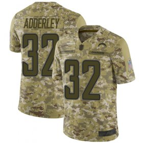 Wholesale Cheap Nike Chargers #32 Nasir Adderley Camo Youth Stitched NFL Limited 2018 Salute to Service Jersey