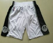 Wholesale Cheap Nike San Antonio Spurs White Swingman Shorts